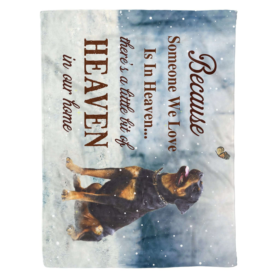 Fleece Blanket - ROTTWEILER - A little bit of heaven - yenyenstore