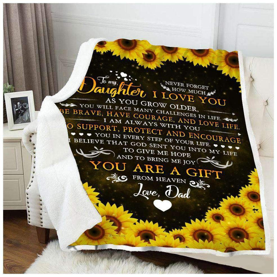 BLANKET - Family - To My Daughter - Love Dad - yenyenstore