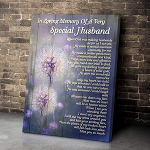 Zalooo Special Husband Dandelion Wall Art Canvas - Zalooo.com Custom Wall Art Canvas