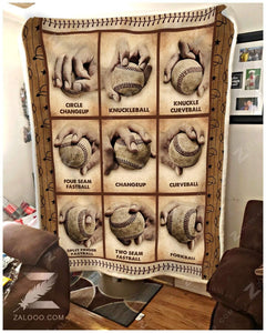Blanket Baseball Baseball Pitching Grips - Zalooo.com Custom Wall Art Canvas