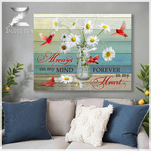 Zalooo Always on my mind Cardinal Canvas Wall Art Decor