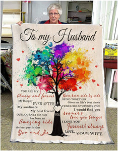 Blanket Family To My Husband You & Me - Zalooo.com Custom Wall Art Canvas
