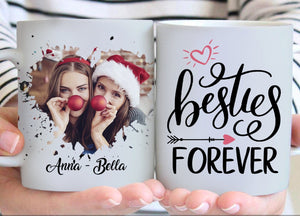 Zalooo White Mug 11 Oz Besties Forever Personalized Name And Photo