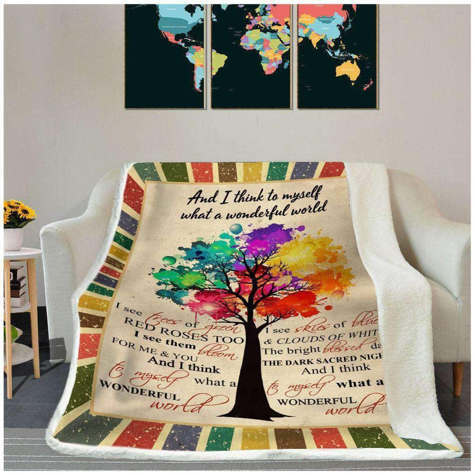 BLANKET - Hippie - What A Wonderful World - yenyenstore
