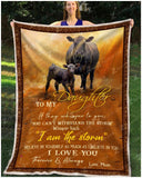 Blanket Black Angus To My Daughter Love Mom
