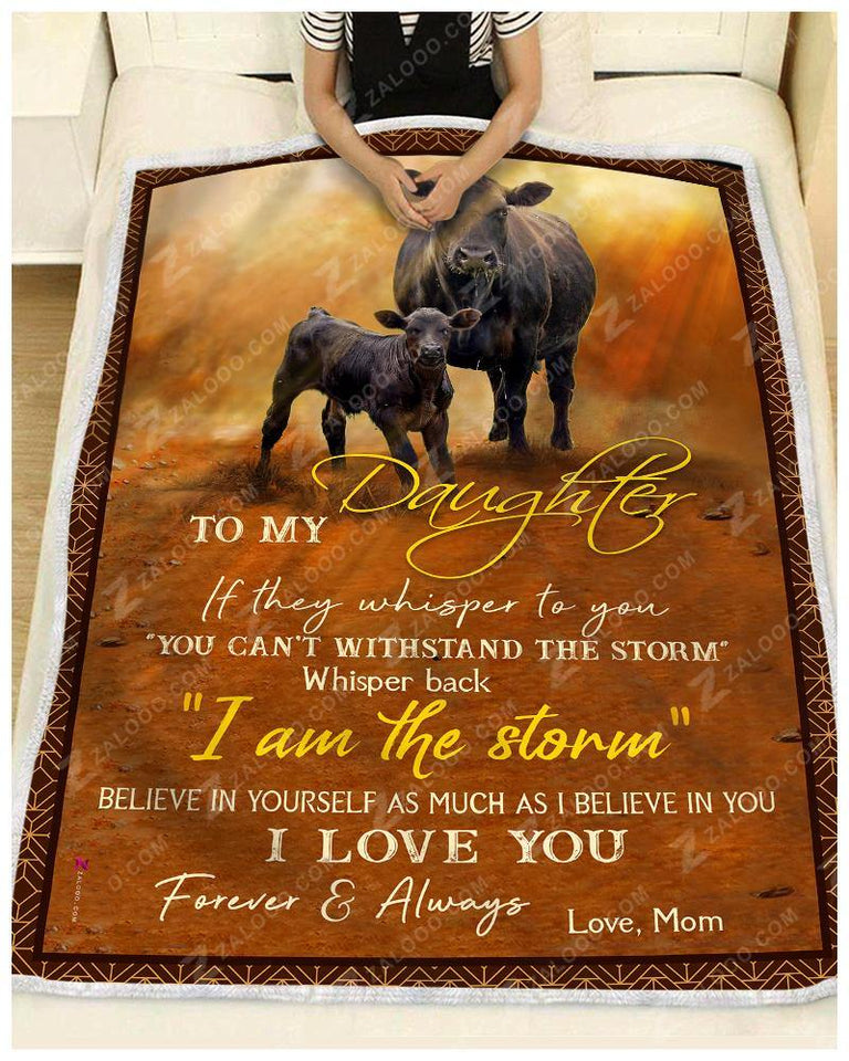 Blanket - Black Angus - To My Daughter - Love Mom