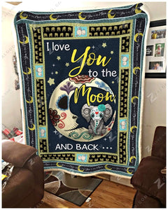 Blanket Elephant I Love You To The Moon And Back - Zalooo.com Custom Wall Art Canvas