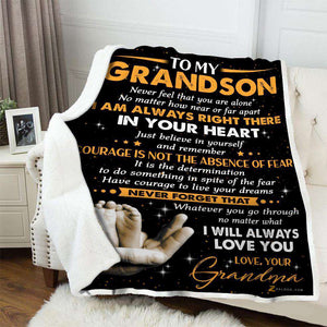 Blanket - To My Grandson - I will always love you - yenyenstore