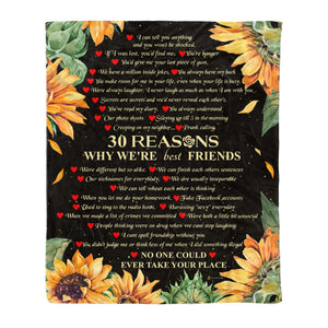 Fleece Blanket - 30 Reasons why we're best friends - yenyenstore
