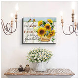 Zalooo Blessing Hummingbird Wall Art Canvas - Zalooo.com Custom Wall Art Canvas