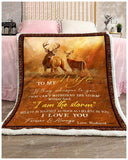 Blanket Buck&Doe To My Wife I Love You Forever & Always - Zalooo.com Custom Wall Art Canvas