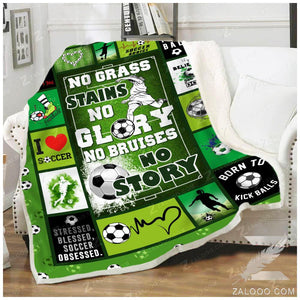 Blanket - Soccer - No grass stains no glory