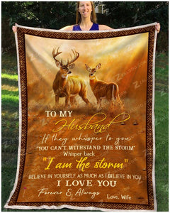 Blanket Buck&Doe To My Husband I Love You Forever & Always - Zalooo.com Custom Wall Art Canvas