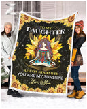 Zalooo To My Daughter My Sunshine Hippie Blanket