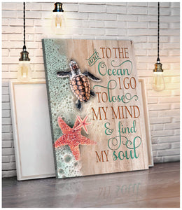 ZALOOO And To The Ocean Turtle Wall Art Canvas