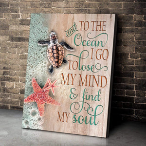 Zalooo And To The Ocean Turtle Wall Art Canvas - Zalooo.com Custom Wall Art Canvas