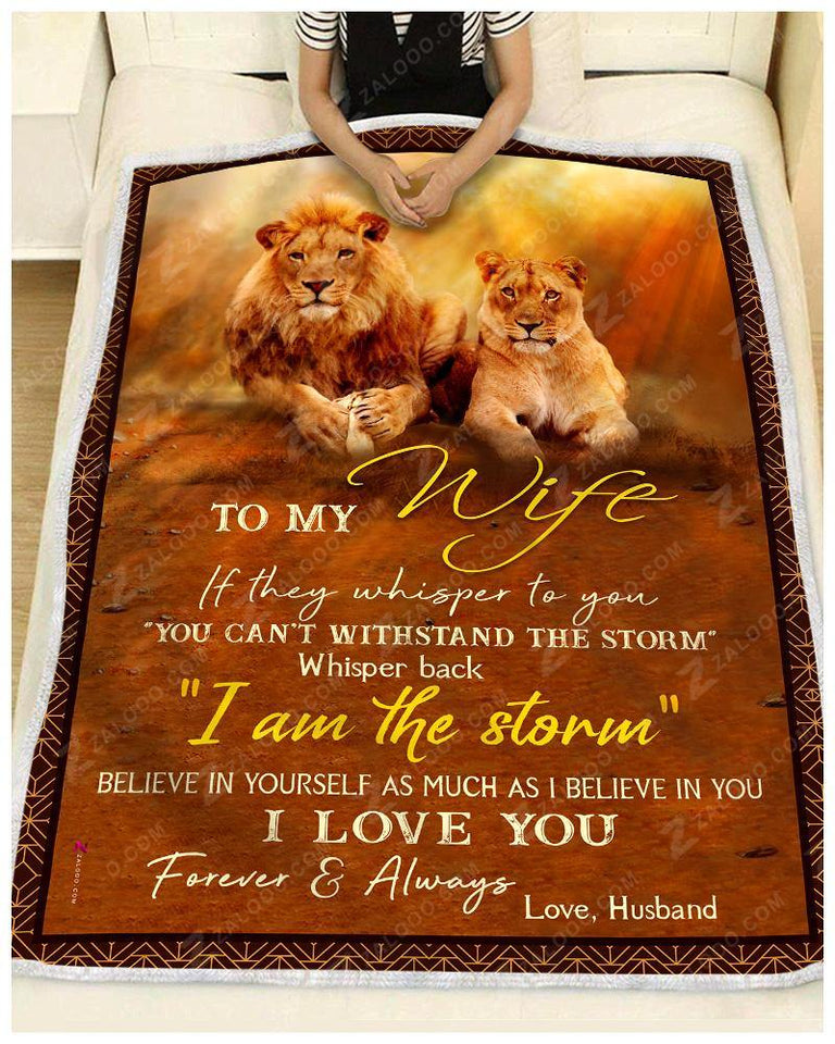 Blanket Lion To My Wife I Love You Forever & Always