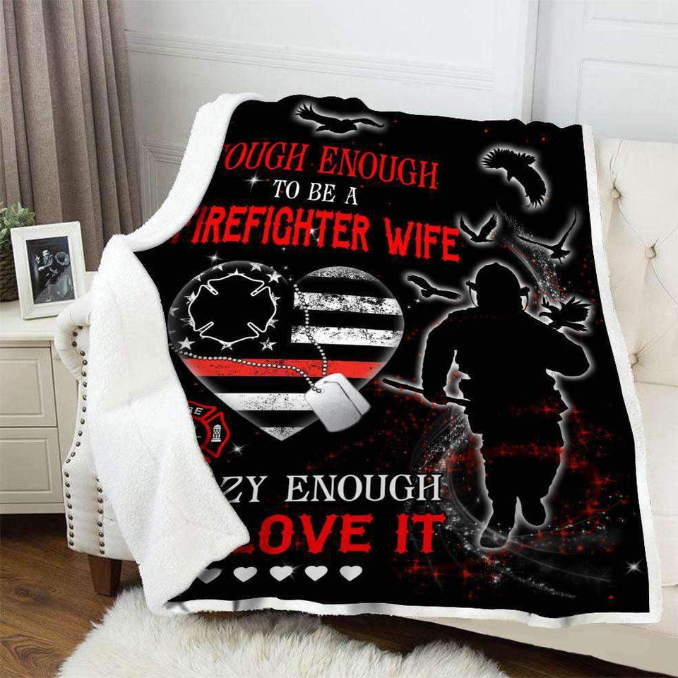 Blanket - Firefighter - Tough Wife - yenyenstore