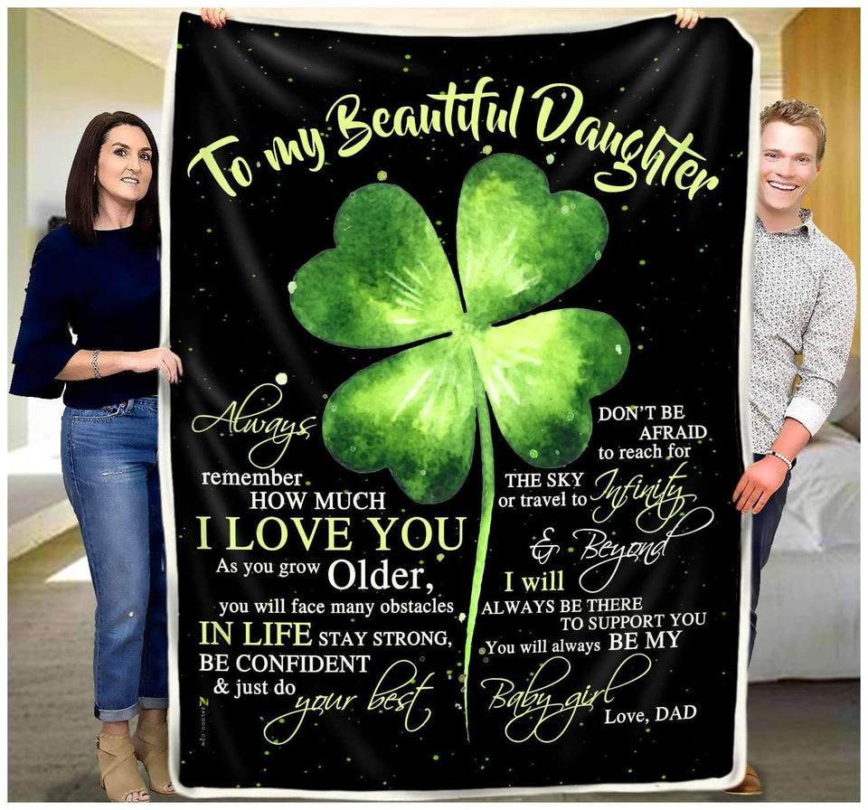 Blanket - To my daughter - Always be my baby girl - yenyenstore