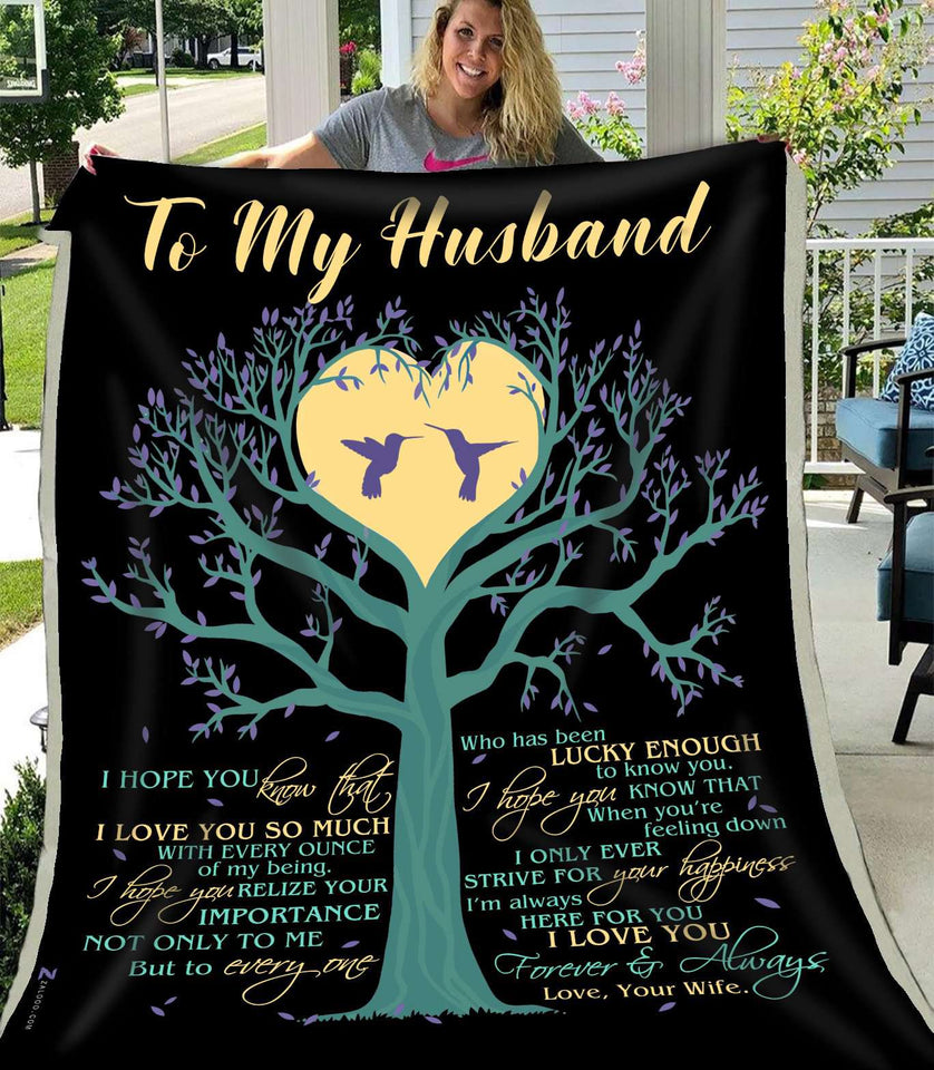 Fleece Blanket - Husband - I hope you - yenyenstore