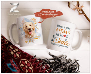 Zalooo White Mug 11 Oz When I saw you Personalized Name And Photo