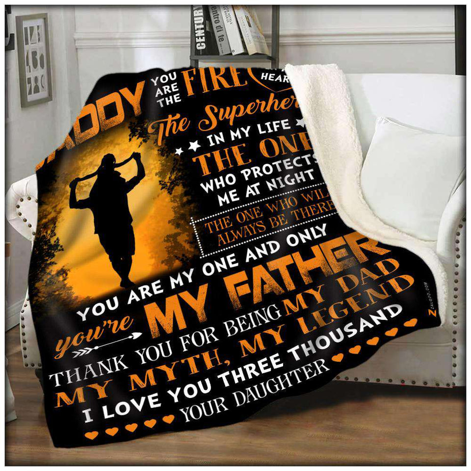 Fleece Blanket - Daddy - I love you 3000 - yenyenstore