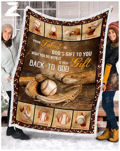 Blanket Baseball Your Talent Is God's Gift - Zalooo.com Custom Wall Art Canvas