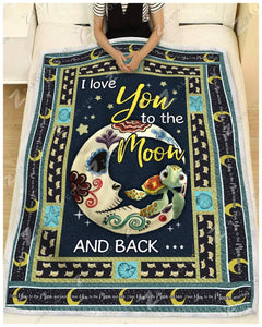 Blanket - Turtle - I Love You To The Moon And Back