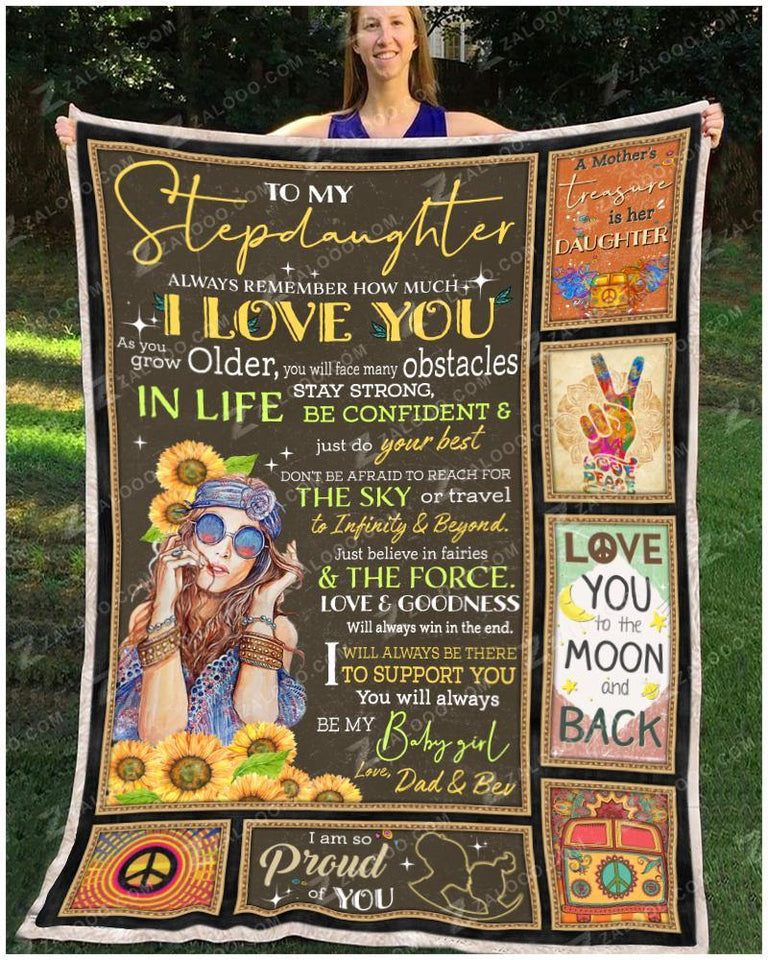 Blanket Hippie To My Stepdaughter - Zalooo.com Custom Wall Art Canvas