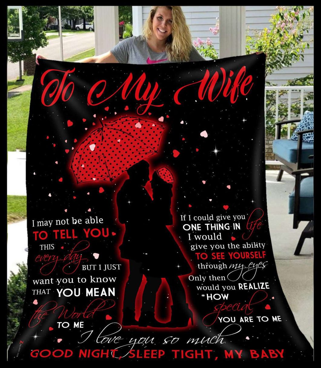 Fleece Blanket - To my wife - To tell you - yenyenstore
