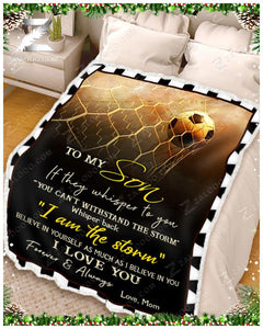 Blanket - Soccer - To My Son - I Love You