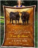 Blanket - Black Angus - To My Husband - I Love You Forever & Always