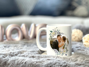 Zalooo White Mug 11 Oz Love is patient Personalized Name And Photo
