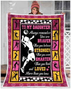 Blanket - Volleyball - Daughter - You are loved more than you know