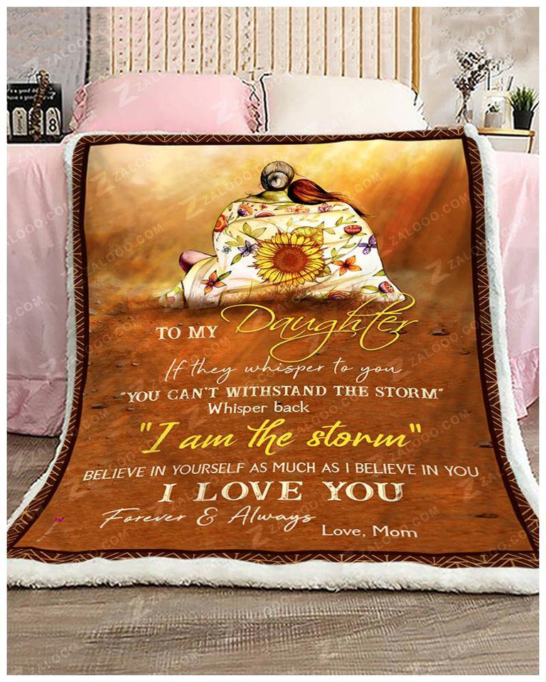 Blanket Hippie To My Daughter If They Whipers To You - Zalooo.com Custom Wall Art Canvas
