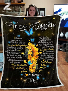 BLANKET Daughter (Mom) I'll always be there for you (Heart) - Zalooo.com Custom Wall Art Canvas