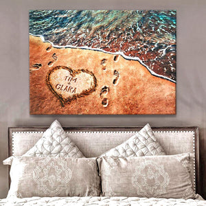 Zalooo Personalized Family Name Beach Decor Wall Art Canvas - Zalooo.com Custom Wall Art Canvas