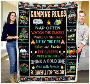 Blanket - Camping Rules - yenyenstore