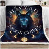 Blanket - Wolf - Stay Wild Moon Child - yenyenstore