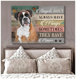 Zalooo They Have Paws Boxer Wall Art Canvas - Zalooo.com Custom Wall Art Canvas