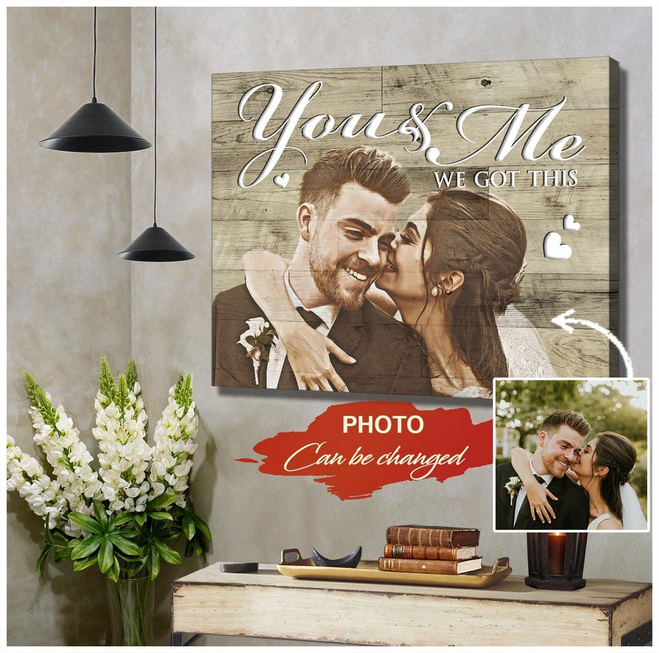 Zalooo You and me Personalized Couple Wall Art Canvas