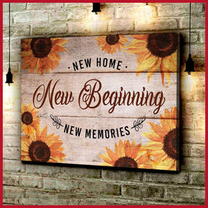 Zalooo New Beginning Sunflower Canvas Wall Art Floral Decor