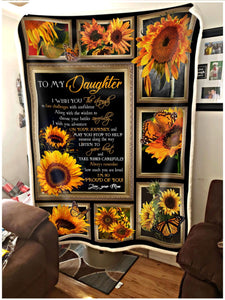 Blanket - To My Daughter - Sunflower