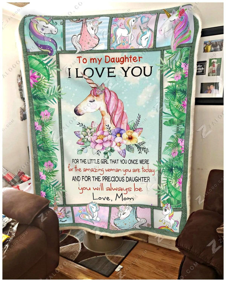 Blanket - Unicorn - To My Daughter - You Will Always Be