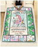 Blanket Unicorn To My Daughter You Will Always Be - Zalooo.com Custom Wall Art Canvas