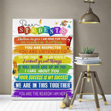 Zalooo Dear Students Wall Art Canvas - Zalooo.com Custom Wall Art Canvas