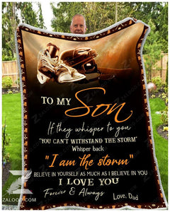 Blanket - Hockey - To My Son - I Love You(Dad)