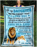 Blanket Lion To My Daughter This Old Lion - Zalooo.com Custom Wall Art Canvas