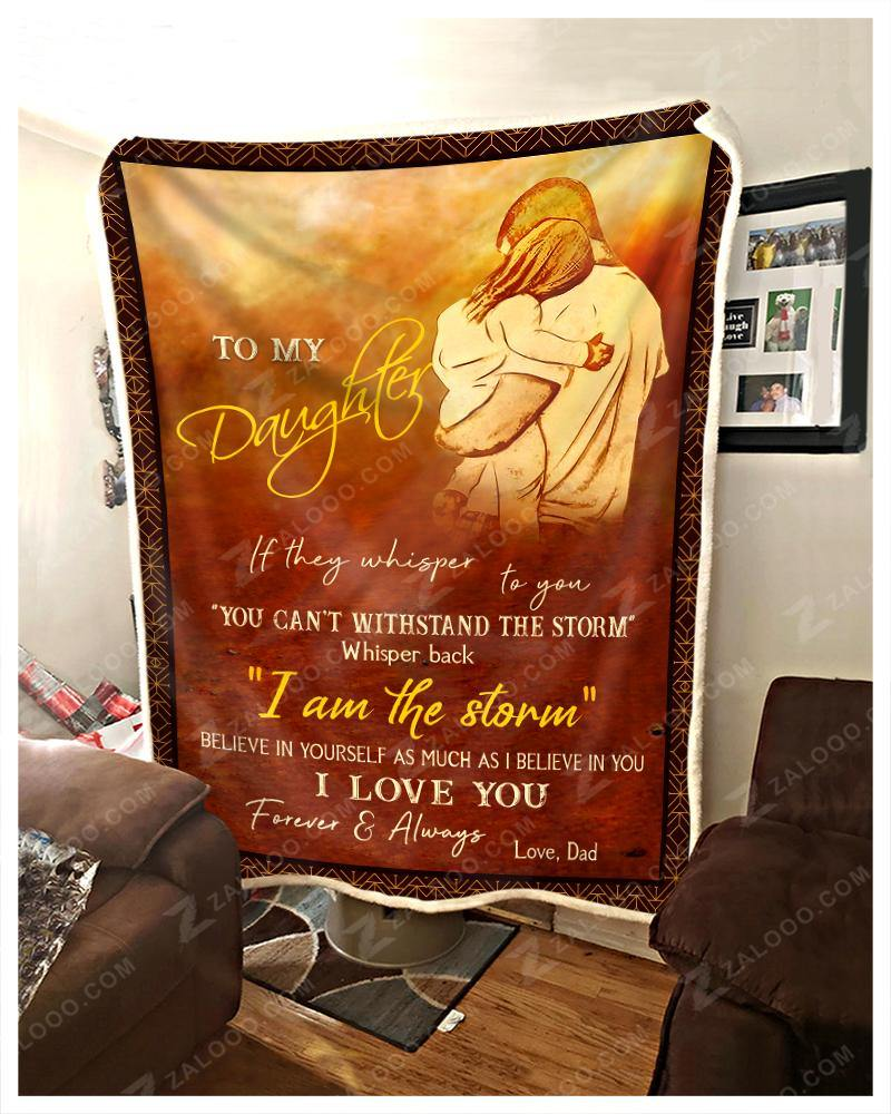 Blanket Hippie To My Daughter I Love You - Zalooo.com Custom Wall Art Canvas