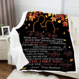 Blanket -  To My Wife - Until I met you - yenyenstore